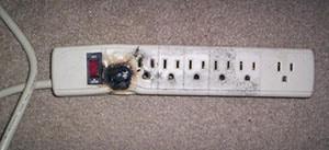 Electrical Powerbar Fire